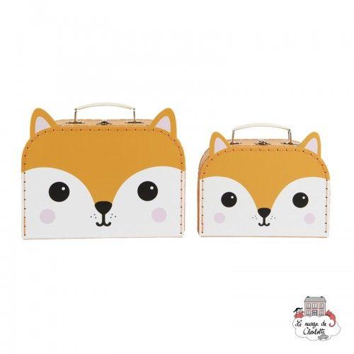 Hiro Fox Kawaii Friends Suitcases - Set of 2 - S&B0018 - Sass & Belle - Suitcases - Le Nuage de Charlotte