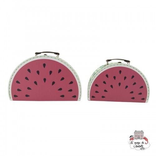Watermelon Suitcases - Set of 2 - S&B0019 - Sass & Belle - Suitcases - Le Nuage de Charlotte