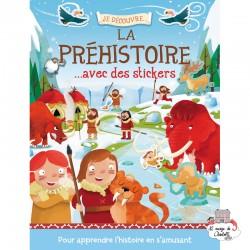 Je découvre la préhistoire avec des stickers - 123-0019 - Editions 123 Soleil - Books - Le Nuage de Charlotte