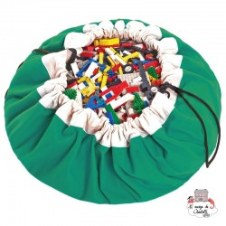 Storage bag, playmat - Green - PNG-GREEN - play&go - play&go Bags - Le Nuage de Charlotte