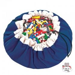 Storage bag, playmat - Cobalt Blue - PNG-COBALTBLUE - play&go - play&go Bags - Le Nuage de Charlotte