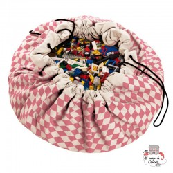 Storage bag, playmat - Diamond -Rose- - PNG-DIAMOND-ROSE - play&go - play&go Bags - Le Nuage de Charlotte