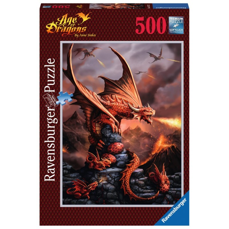 The Fire Dragon - RAV0039 - Ravensburger - 500 pieces - Le Nuage de Charlotte