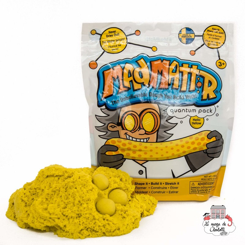 Mad Mattr yellow (283g) - RPL-890210100 - Relevant Play - Sand and Playdough - Le Nuage de Charlotte