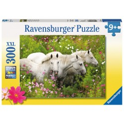 Horses in a field of flowers - RAV-132188 - Ravensburger - 300 pieces - Le Nuage de Charlotte