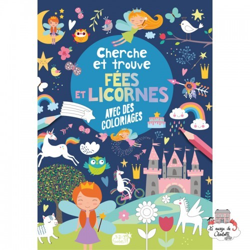 Cherche et trouve – fées et licornes - 123-0040 - Editions 123 Soleil - Activities - Le Nuage de Charlotte