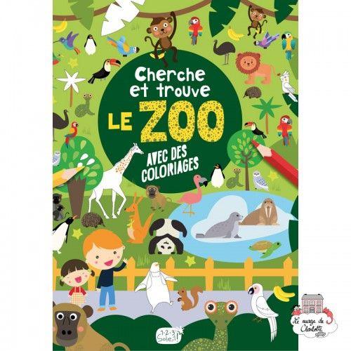 Cherche et trouve – le zoo - 123-0043 - Editions 123 Soleil - Activities - Le Nuage de Charlotte