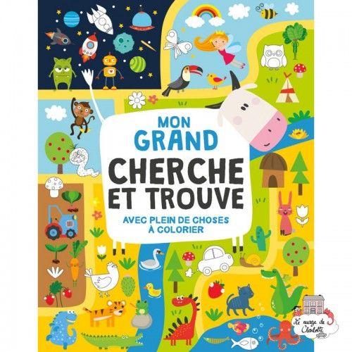 Mon grand Cherche et Trouve avec plein de choses à colorier - 123-0049 - Editions 123 Soleil - Books - Le Nuage de Charlotte