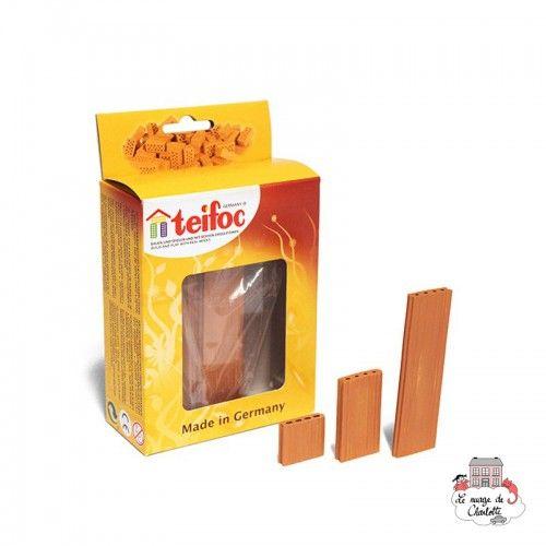 Teifoc Assortment of 16 red roof plates - TEI-906800 - Teifoc - Clay Bricks - Le Nuage de Charlotte