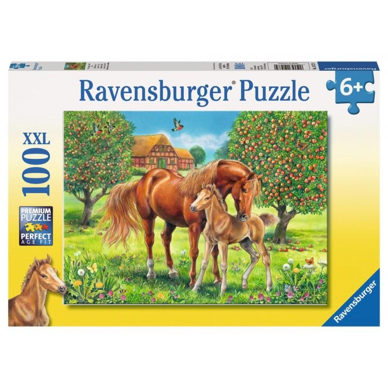 Horses in the Field - RAV-105779 - Ravensburger - 100 pieces - Le Nuage de Charlotte