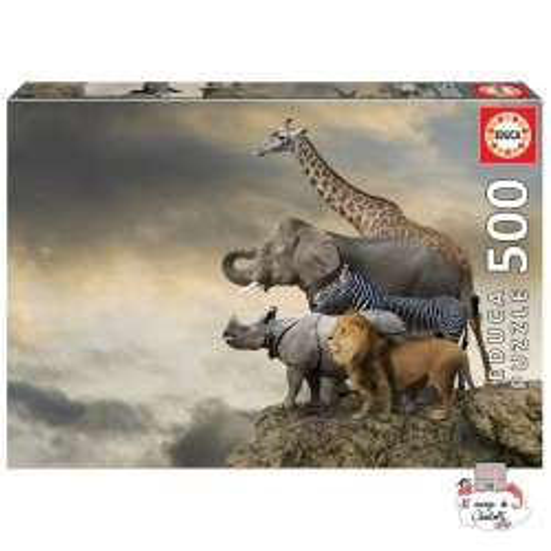 Animals on the Edge of a Cliff - EDU-16737 - Educa Borras - Adult Puzzles - Le Nuage de Charlotte