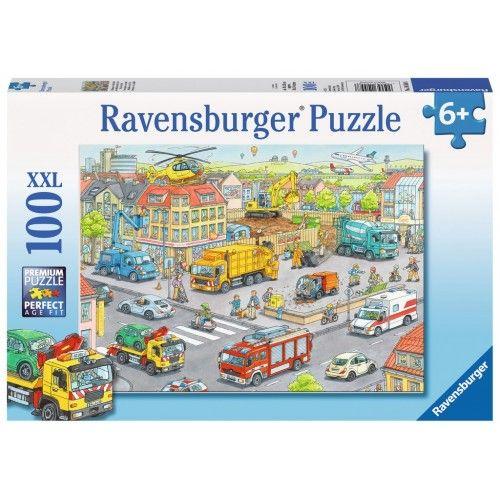 Vehicles in the City - RAV0053 - Ravensburger - 100 pieces - Le Nuage de Charlotte