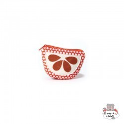 Coin purse - orange - NBNK01 - By Nébuline - Wallet - Le Nuage de Charlotte