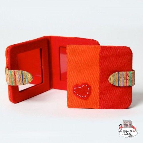 Pocket Mirror - red/orange - NBNK020 - By Nébuline - Pocket mirror - Le Nuage de Charlotte
