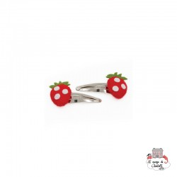 Hair Clips - Strawberry - BNHAclFrst - By Nébuline - Hair Accessories - Le Nuage de Charlotte