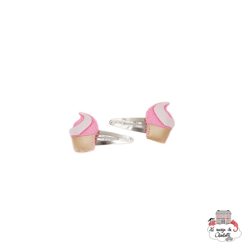 Barrettes à cheveux - Crème Glacée - BNHAclMXi - By Nébuline - Accessoires pour les Cheveux - Le Nuage de Charlotte