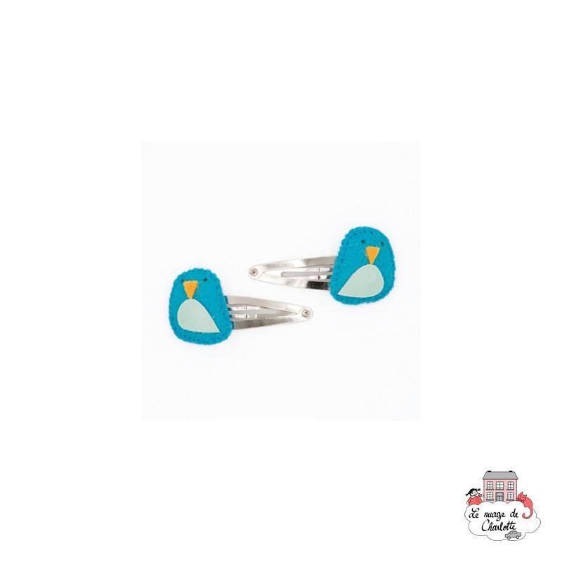 Hair Clips - Blue Bird - BNHAclMxbb - By Nébuline - Hair Accessories - Le Nuage de Charlotte