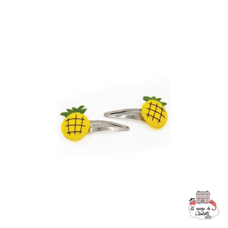 Hair Clips - Pineapple - BNHAclFRpi - By Nébuline - Hair Accessories - Le Nuage de Charlotte