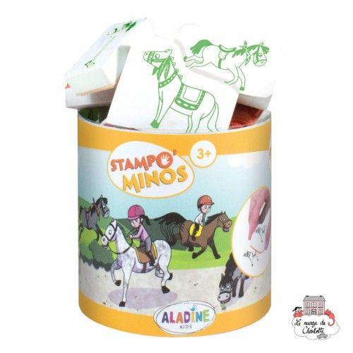 Stampo minos - Horses - ALA-85146 - Aladine - Children's Stamps - Le Nuage de Charlotte