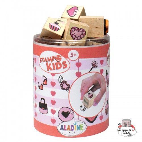 Stampo kids - Hearts - ALA-03408 - Aladine - Children's Stamps - Le Nuage de Charlotte