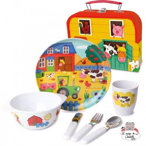 Set repas en mélanine pour les petits - VIL-0801 - Vilac - Manger et Boire - Le Nuage de Charlotte