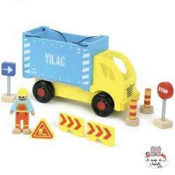 Container Lorry - VIL-2347 - Vilac - Figures and accessories - Le Nuage de Charlotte