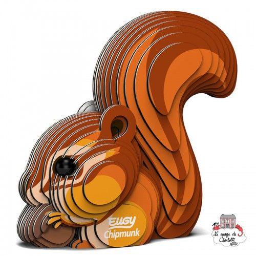 Eugy - Chipmunk - EUG-5313957 - Eugy - Maquettes en carton - Le Nuage de Charlotte