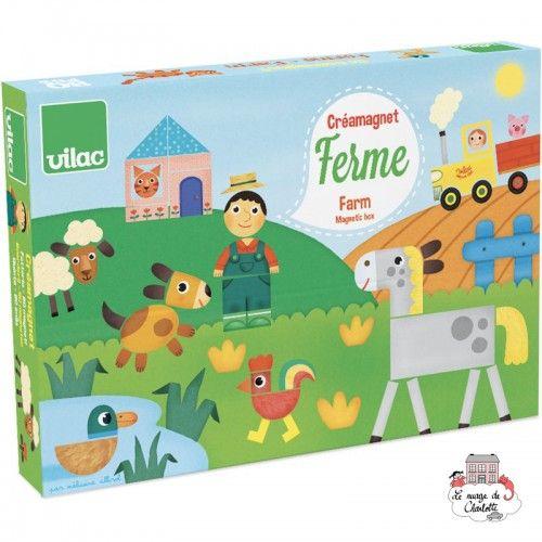 Créamagnet Farm by Mélusine Allirol - VIL-8029 - Vilac - Education and Magnets - Le Nuage de Charlotte