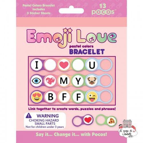 Pocos Emoji Love Pastel Colors Bracelet 13 pocos - POC-101123 - Luna Loop - Creative Kits - Le Nuage de Charlotte