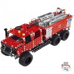 Fire Truck with 3 axles - TRO-10432 - Tronico - Metal Construction - Le Nuage de Charlotte