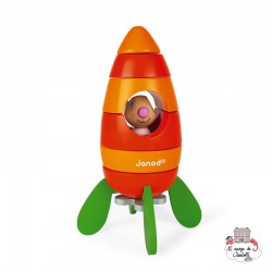 Magnetic Carrot Rocket - JAN-J08250 - Janod - Activity Toys - Le Nuage de Charlotte