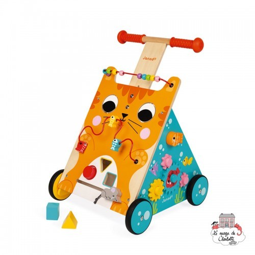 Multi-Activities Cat Baby Walker - JAN-J08005 - Janod - Activity Toys - Le Nuage de Charlotte