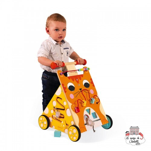 Multi-Activities Cat Baby Walker - JAN-J08005 - Janod - Activity Toys - Le Nuage de Charlotte