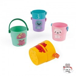 5 Activities Buckets - JAN-J04724 - Janod - Water Play - Le Nuage de Charlotte