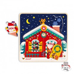 3-Level Puzzle - Christmas Night - JAN-J07020 - Janod - Wooden Puzzles - Le Nuage de Charlotte