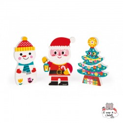 Santa and his Friends Funny Magnets - JAN-J08033 - Janod - Toys and Games - Le Nuage de Charlotte