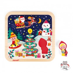 Chunky Puzzle The Magic of Christmas - JAN-J07087 - Janod - Wooden Puzzles - Le Nuage de Charlotte