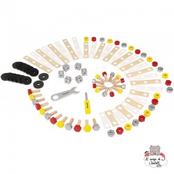 Redmaster DIY Barrel - 100 Pieces - JAN-J06486 - Janod - Wooden blocks and boards - Le Nuage de Charlotte