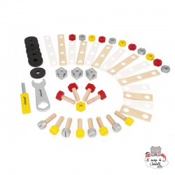 Redmaster DIY Barrel - 50 Pieces - JAN-J06485 - Janod - Wooden blocks and boards - Le Nuage de Charlotte