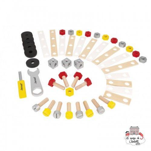 Redmaster DIY Barrel - 50 Pieces - JAN-J06485 - Janod - Wooden blocks and boards - Le Nuage de Charlotte