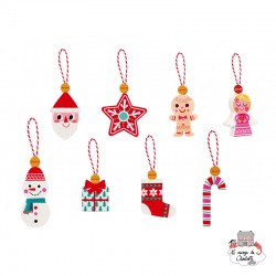 8 Christmas Ornaments - JAN-J04539 - Janod - Christmas Ornaments - Le Nuage de Charlotte