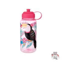 Tiki Toucan Water Bottle 1 Litre - S&B-ZIP031 - Sass & Belle - Eat and Drinks - Le Nuage de Charlotte
